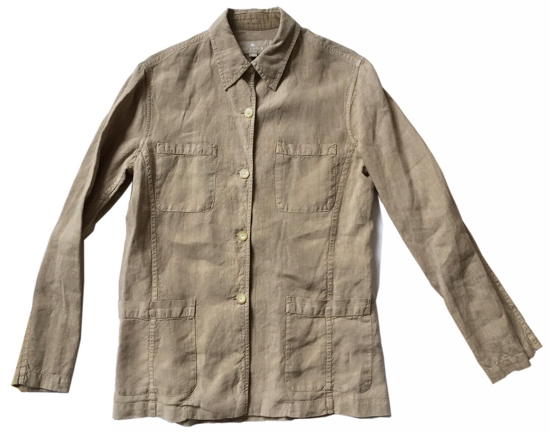 ETRO Womens Sz 44 / US 8 Tan Linen Jacket French … - image 1