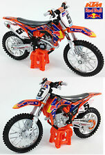 RYAN DUNGEY REDBULL KTM SXF450 1:18 Die-Cast Motocross MX Toy Model Bike Orange