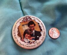 Princess Diana Wedding Souvenir Photo Pin 1981 from England  X-Rare
