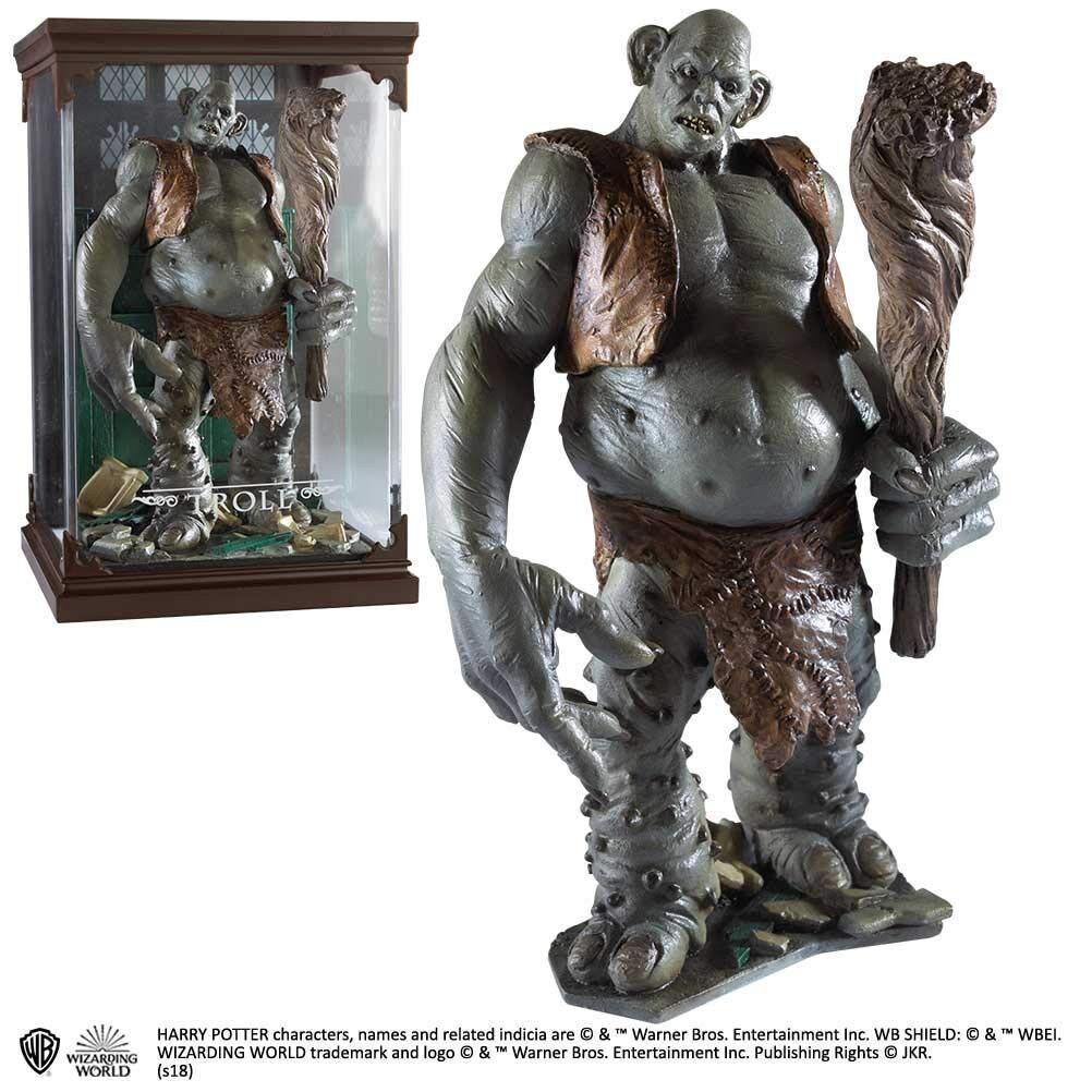 TROLL STATUA Resina 15cm da da da HARRY POTTER Originale NOBLE MAGICAL CREATURES 12 4501a7