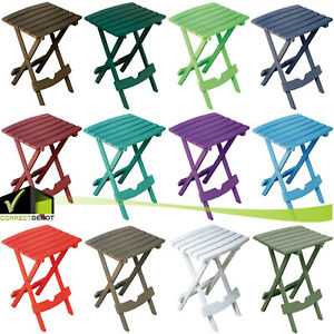 Details About Foldable Side Table Outdoor Patio Porch Pool Resin Plastic Lightweight 13 Colors