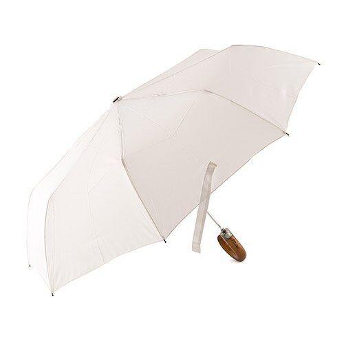 Parapluie Mariage Poignée en Bois Avec Gravé Juste Mariés Poignée Blanc