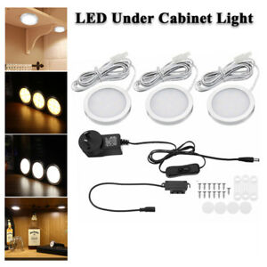 LED-Under-Cabinet-Light-Closet-Puck-Lamp-Kit-Home-Kitchen-White-Warm-White