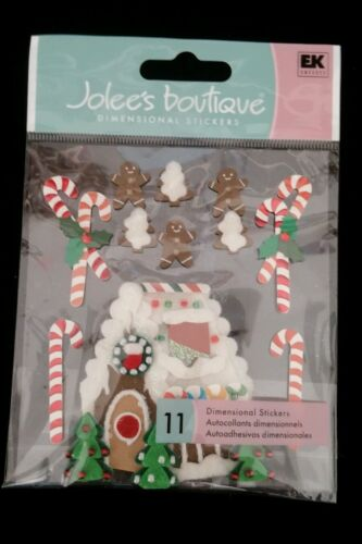 NIP 11 pc GINGERBREAD HOUSE /& MEN CANDY CANES CHRISTMAS JOLEE/'S 3D STICKER