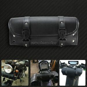 Motorcycle Handlebar Sissy Bar Saddlebag Roll Barrel Tool Bag Fit For Harley