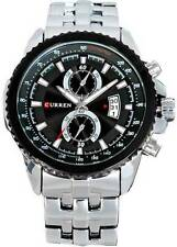 Curren CUR017 Luxury Sports Auto Date Wrist Watch for Menz (silver) With Box