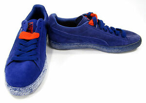 31adb7f0d0 Image is loading Puma-Shoes-RN-Suede-Classic-Royal-Blue-Sneakers-