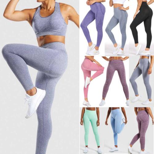 Womens High Waist Yoga Leggings Vital Seamless Knit Sports Pants Gym Outfit A261