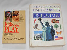 2 Books : Kids and Play / The Young People's Encyclodepia of the United States