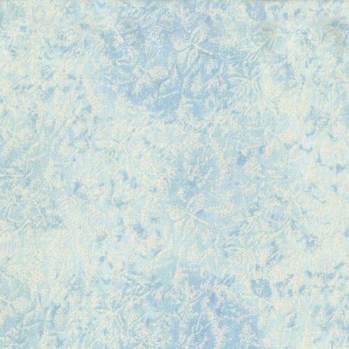 free p/&p, Michael Miller Fairy frost pale blue glitter 100/% cotton fat quarter