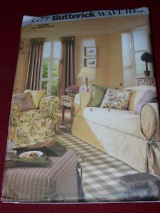 Amazing Details About Waverly Butterick 3877 Lg Sm Sofa Loveseat Chair Otto Slipcovers Pattern Ff Andrewgaddart Wooden Chair Designs For Living Room Andrewgaddartcom