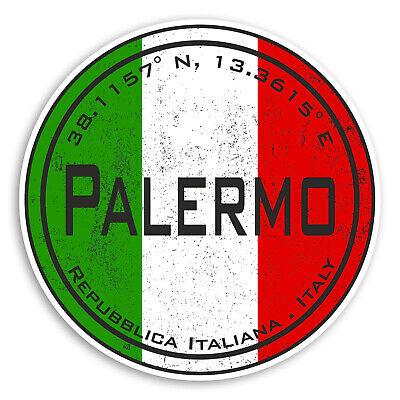 Italian Flag Sticker Luggage #20574 2 x 10cm Trieste Italy Vinyl Stickers