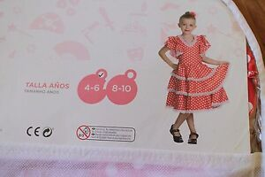 Kids-Girls-Flamenca-Flamenga-Dress-Miyo-El-Corte-Ingles-Brand-new