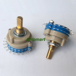 2pole 24step 250K Mono Potentiometer Rotary Switch Attenuator Volume Control Pot