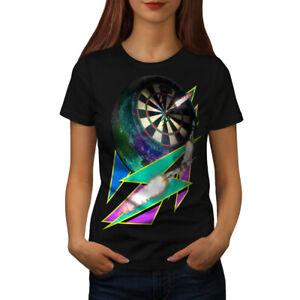 Wellcoda Dart Board Gaming Womens T-shirt, Achieve Casual Design Printed Tee