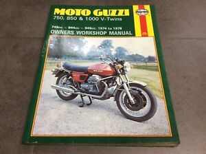 haynes moto guzzi 750 850 1000 v twins owners workshop manual 339 rh ebay co uk moto guzzi 850 t3 owners manual moto guzzi audace owners manual
