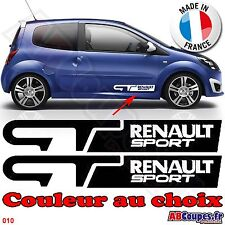 2 Stickers autocollants 30cm GT Renault sport - Twingo clio megane  - 010