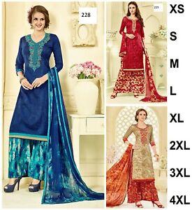 Salwar-Plazo-Kameez-Indian-Pakistani-Designer-Suit-Wedding-Sharara-Dress-Plazzo