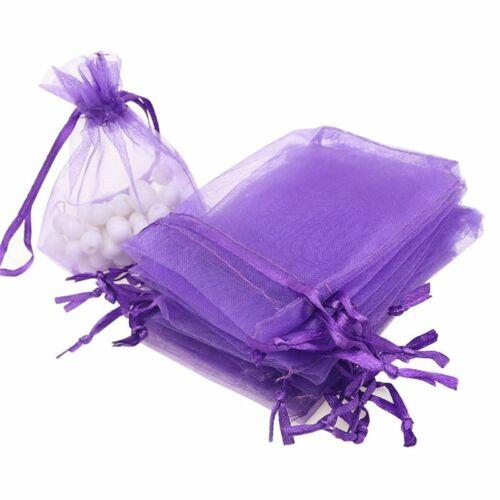 Details about  /100PCS//Lot Organza Gift Bag Jewelry Pouch Mini Mesh Bag Wedding Supplies