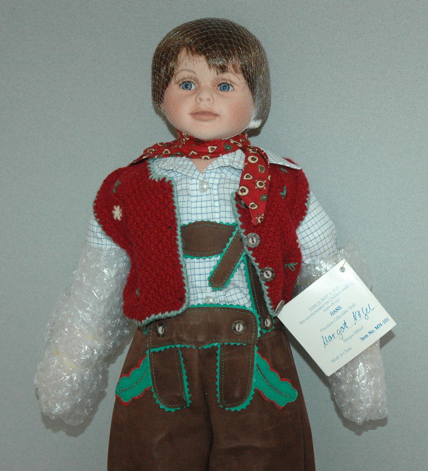 Premiere Artist Collection 22  Porcelain Doll Hans By Margot Notze LTD ED NIB