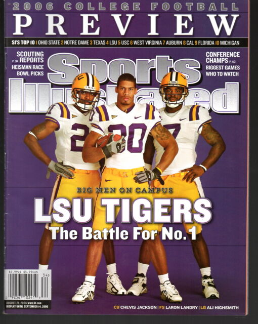 Sports Illustrated 2006 LSU Tigers Chevis Jackson, LaRon Landry, Ali Highsmith