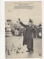 Paris Charmeur d'Oiseaux Aux Tuilleries France Vintage Postcard 720a