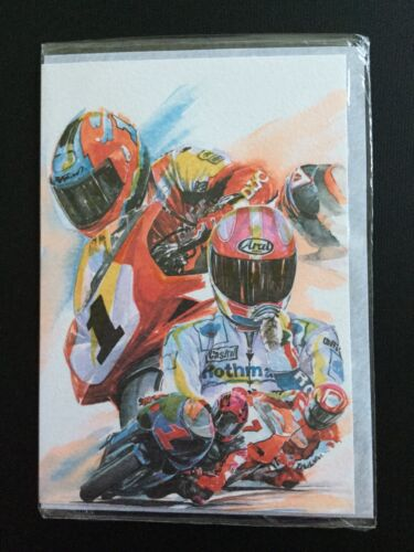 New And Sealed Blank On The Inside For You Own Message Motorbikes Card