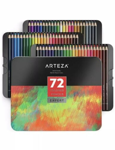Soft Wax-Based Cores ... Professional Set of 72 Colors ARTEZA Colored Pencils