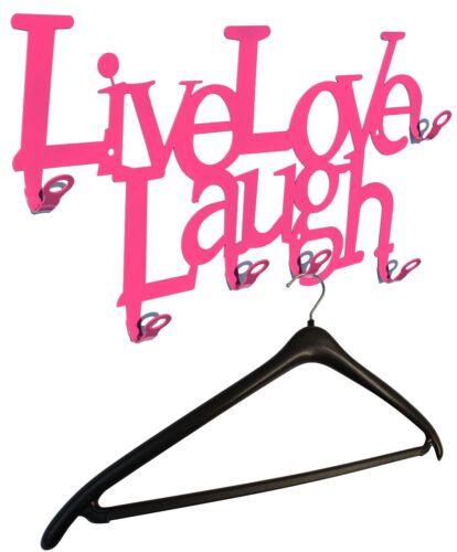 Lebe Liebe Lache Original Wandgarderobe Live Love Laugh Flurgarderobe Metall
