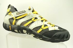 Merrell-Yellow-Black-Mesh-Athletic-Hiking-Trail-Lace-Up-Shoes-Men-039-s-10