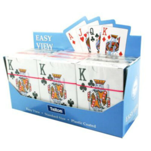 1 X TALLON EASY VIEW PLAYING CARDS WITH LARGE DISPLAY NUMBERS 5999