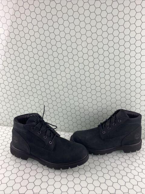 Timberland Premium 6 Inch Black Nubuck Waterproof Lace Up Chukka Boots Men's 9