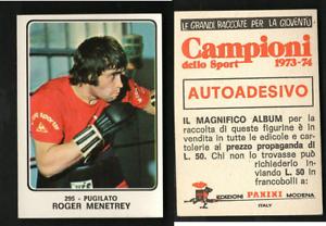 Roger-Menetrey-Francia-Panini-BOXING-CARD-1973-NUOVO-n-295