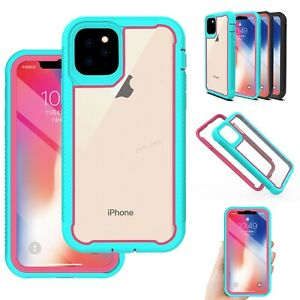 For-iPhone-11-Pro-Max-Shockproof-Cyrstal-Clear-Case-Hybrid-Dual-Layer-Cover
