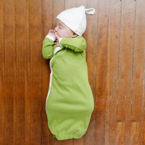 2 stücke unisex baby hut und kleid layette set langarm kleidung tasche