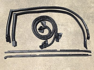 81-88 Regal Cutlass RWD w// Wide Chrome NEW 2 pc Outer Door Window Sweep Felt Kit