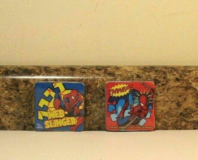 NEW Marvel spiderman Magic Towel YELLOW