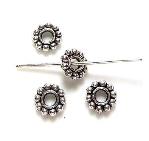 25 Perles intercalaire spacer /_ FLEUR 6,5x6,5x1,5mm /_ Apprêts créa bijoux A158 g