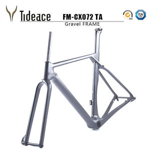 Cyclocross Carbon Fiber Road Racing Gravel Bike Front Forks with Thru Axle OEM