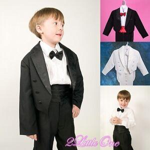 5-Pcs-Set-Black-Formal-Tuxedo-Suit-Wedding-Christening-Baby-Boy-Size-6m-8-001A