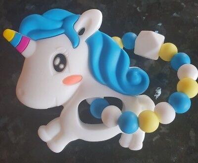 Animal Teether Chew Silicone Teether Unicorn BPA Free Baby Shower Gift UK Seller