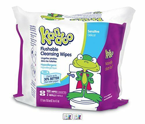 NEW Pampers Kandoo Sensitive Flushable Wipes 100 Count Pack of 6 FREE SHIPPING