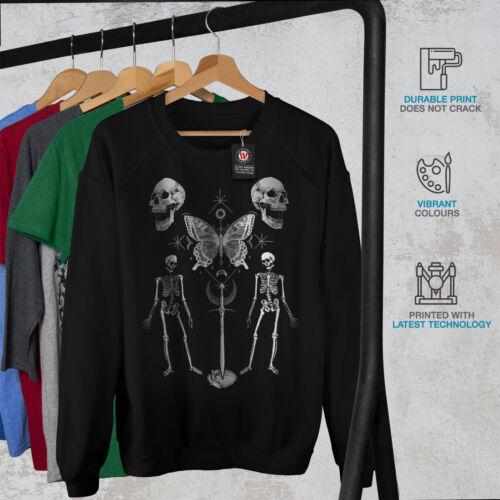 Wellcoda Gothic Skull Womens Sweatshirt Hail Horror Casual Pullover Jumper