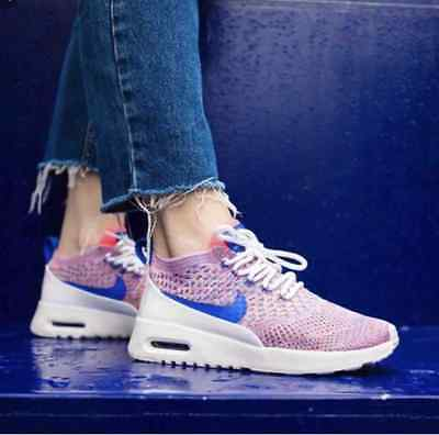 Sneakers Women's Nike Air Max Thea Ultra Flyknit Pink Blue White 881175 100 | eBay