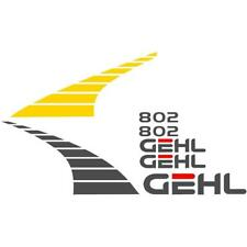 New Decal Set For Gehl Model 802 Compact Mini Excavator