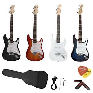 ST-Full-Size-Electric-Guitar-with-Picks-Strap-Acces-for-Beginners-Free-US-Ship