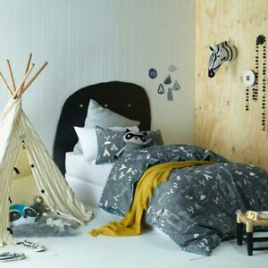 Jiggle-amp-Giggle-Kids-Boys-In-The-Woods-Doona-Quilt-Cover-Set-Single-Double-Queen