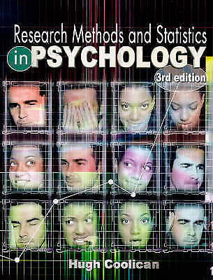 """""""AS NEW"""" Coolican, Hugh, Research Methods and Statistics in Psychology, Paperbac"""