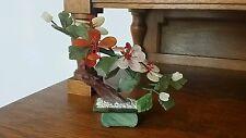 "Vintage Chinese Miniature Tree - Jadeite, Rose Quartz - ""Bonsai Tree"""