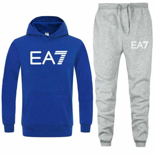 Sportswear Full Tracksuit Set Fleece Mens Hoodie Top Bottoms Jogger Trackies Gym